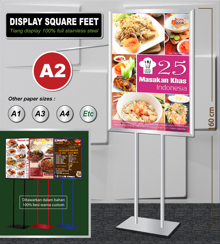 Display Stand 2 Feet Stainless