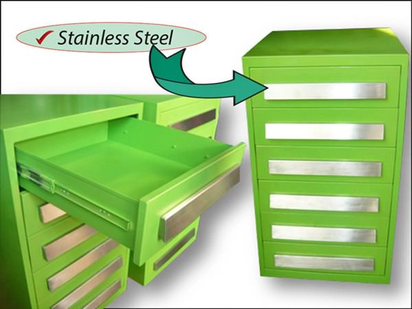 Cabinet besi handle stainless 6 laci