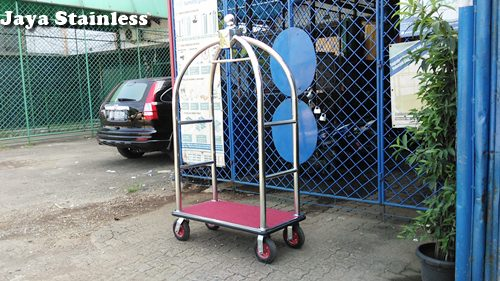 Jual Trolley sangkar burung / Luggage cart / Bellman trolley / Trolley Hotel