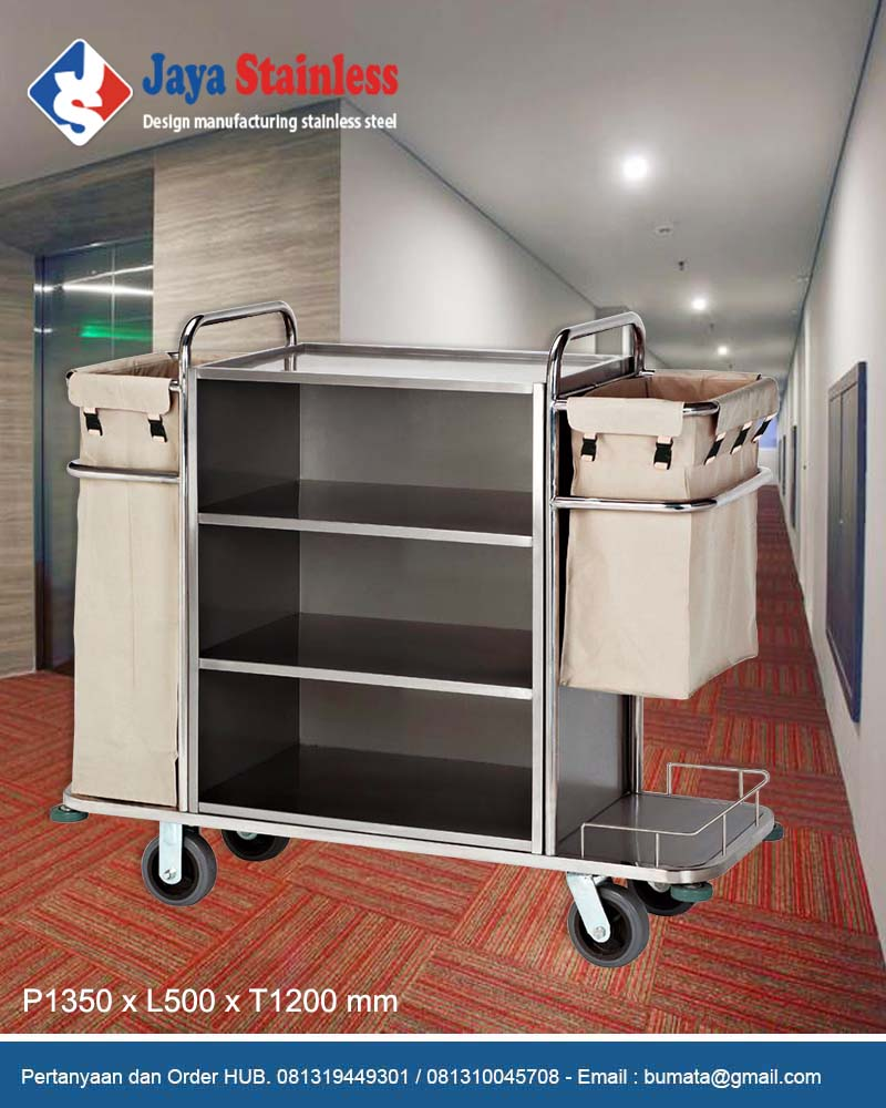 Hotel service cart – Housekeeping trolley – Housekeeping Carts