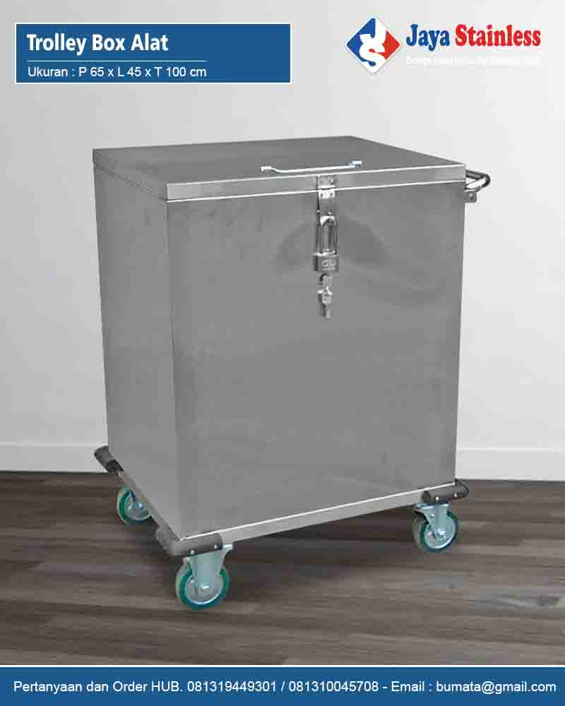 Trolley Box Alat Stainless