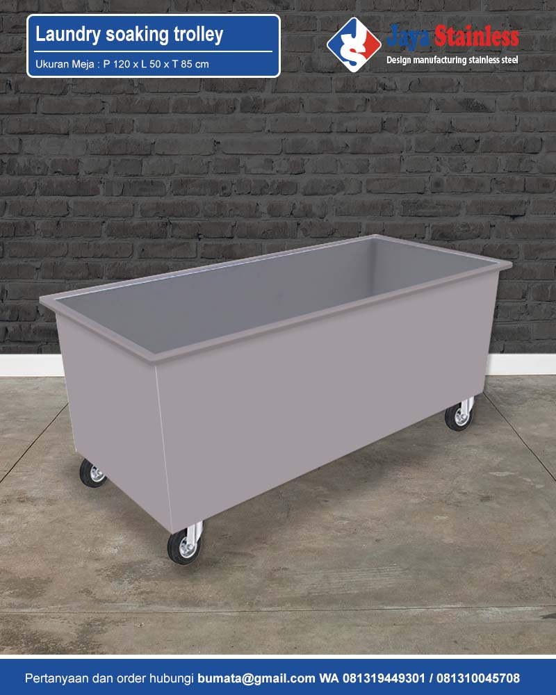S/S Laundry soaking trolley (Stainless Steel Laundry Carts For Soaking)