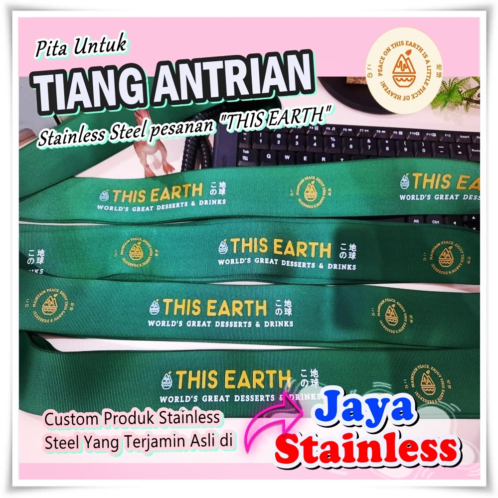 Tiang antrian stainless pesanan THIS EARTH (Summarecon Mall Kelapa Gading)