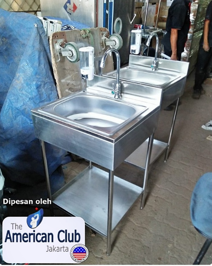 Wastafel cuci tangan stainless The American Club